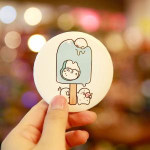 아이스크림 익명 컴팩트 거울