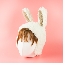 뽀글이 토끼모자